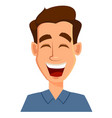 Face expression of a man - laughing male emotions vector image