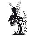 Fairy mushroom autumn vector image