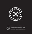 isolated chance icon wheel element can be vector image