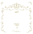 Ornate cartouche vector image