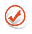 Select sign sticker orange vector image