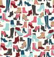 Shoes seamless pattern - vector image
