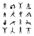 Workout Black And White Set vector image
