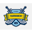 Ice hockey winter sport tournament logo vector image