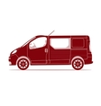 Car silhouette - Van vector image
