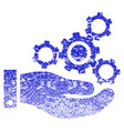 mechanics service grunge textured icon vector image