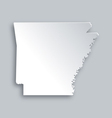 Map of Arkansas vector image