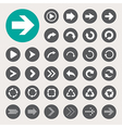 Basic arrow sign icons set vector image