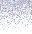 Confetti falling backdrop Rose quarts and serenity vector image vector image
