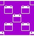 Calendar web icon flat design Seamless pattern vector image