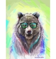 Colorful bear Bright poster vector image