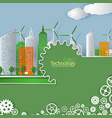 eco technology cover template cityscape vector image