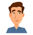 face expression of a man - thinking male emotions vector image