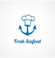 fresh seafood logo vector image