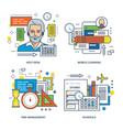 Help desk mobile learning time management vector image