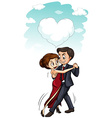 Man and woman dancing together vector image