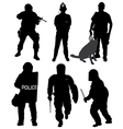 Policeman Silhouette vector image