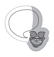 sticker contour face cartoon gesture with dialog vector image