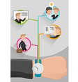 Time Management Business Workflow vector image