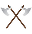 viking axe medieval weapons vector image