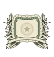 dollar emblem seal isolated icon vector image
