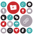 icons for business and office vector image vector image