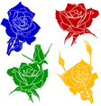 tattoo rose flower vector image vector image