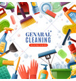 general cleaning frame vector image
