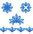 set of floral petals vector image vector image
