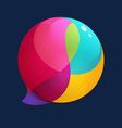 Sphere speech bubble logo vector image
