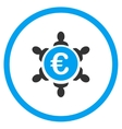 Euro Collaboration Rounded Icon vector image
