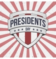 Presidents Day big patriotic Shield Sign vector image