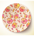 Bright colors flower pattern on plate vector image