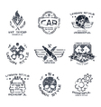 Car service badges and logo vector image