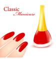 classic manicure vector image