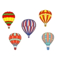 Colorful air balloons vector image