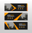 Gold corporate business banner templates set vector image