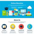 Online Education Flat Web Design Template vector image