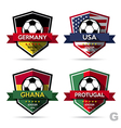 Set of soccer football badge vector image