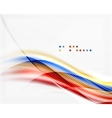 Glossy blurred shiny wave lines colorful stripes vector image vector image