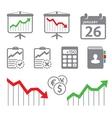 Economic icons vector image