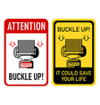 Buckle up signs vector image vector image
