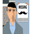 Missing Movember Mustache vector image