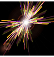 Abstract background with light burst vector image vector image
