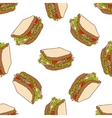 Seamless pattern color sandwich vector image