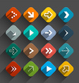 Arrows Set - App Icons - Rounded Squares Colorful vector image