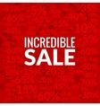 Big incredible sale background with percents vector image