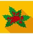 Christmas Mistletoe in Flat Style vector image