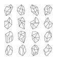 crystal shapes outline set vector image