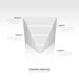 design pyramid infographic template white color vector image